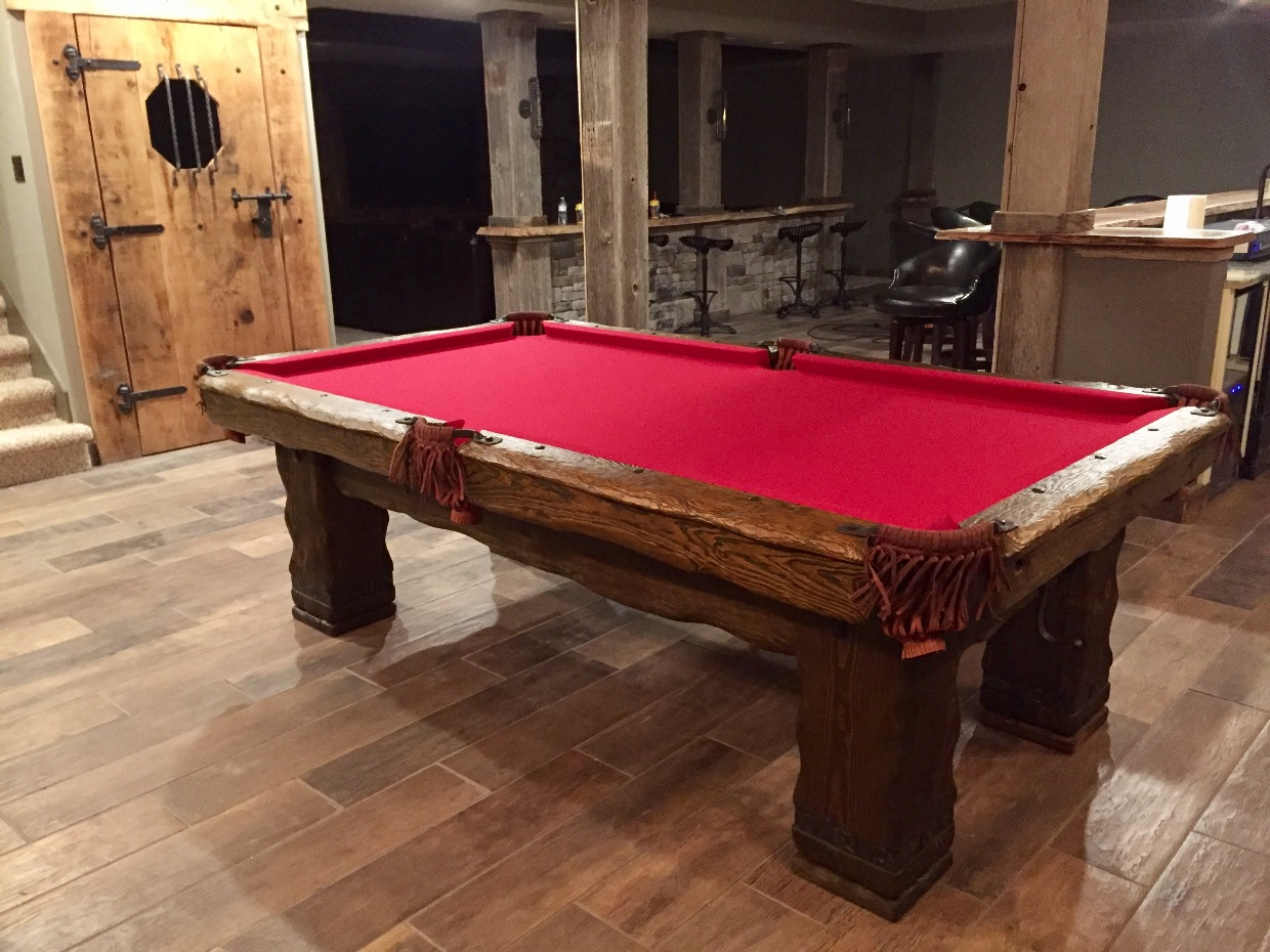 Grizzly Vision Billiards - Handmade pool table