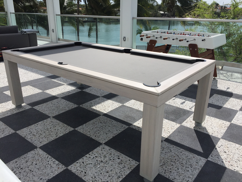 7' Outdoor convertible dining pool table fusion outdoor billiard table
